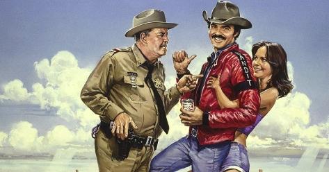 SMOKEY AND THE BANDIT, Jackie Gleason, Burt Reynolds, Sally Field, 1977